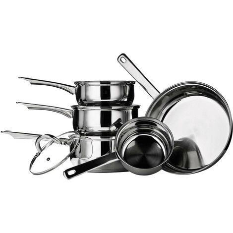 Saucepan Set,5pc Stainless Steel