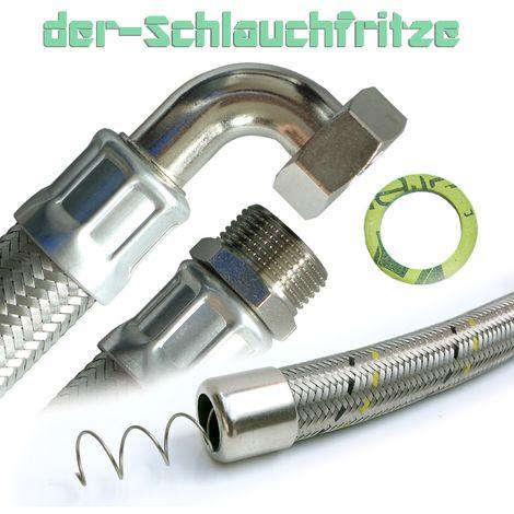 "Saugschlauch 1""AG x 1""ÜM 90°Bogen, Druckchlauch, Pumpenschlauch 30cm / 300mm"