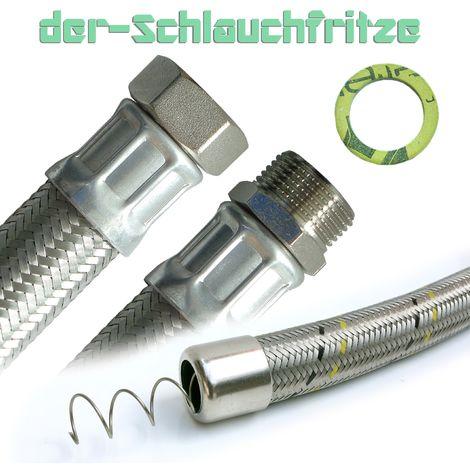 """Saugschlauch, Druckschlauch 1""""ÜM x 1""""AG, Pumpenschlauch 30cm / 300mm"""