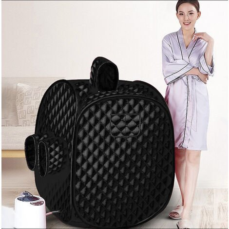 Sauna A Vapeur - 2.5L 9 Température 80X80X100cm 1000W - Epais Salle de Bain PRISE EU 220V Rose - Rose