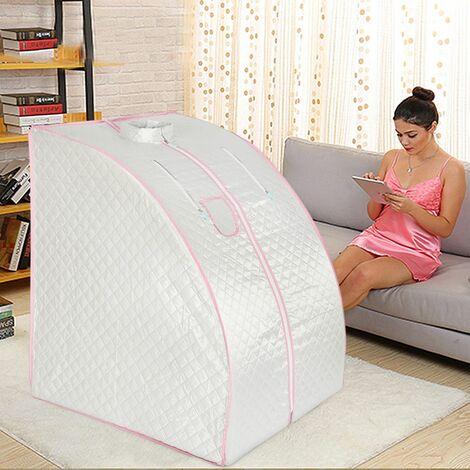 Sauna Box Bain de Vapeur mobile Spa Pliable Ménage à Vapeur Télécommande Température Argenté 220V - Argent