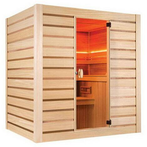 Sauna cabine vapeur Holl's ECCOLO bois naturel