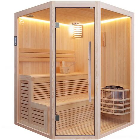 Sauna d'angle Boreal® Evasion Baltik 3/4 places - 160x160x210 cm