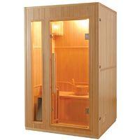Sauna finlandese 2 posto 110x120 cm