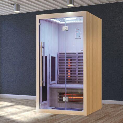 Sauna Infrarouge Boreal® Signature - 110 à Spectre Complet - 110x110x200