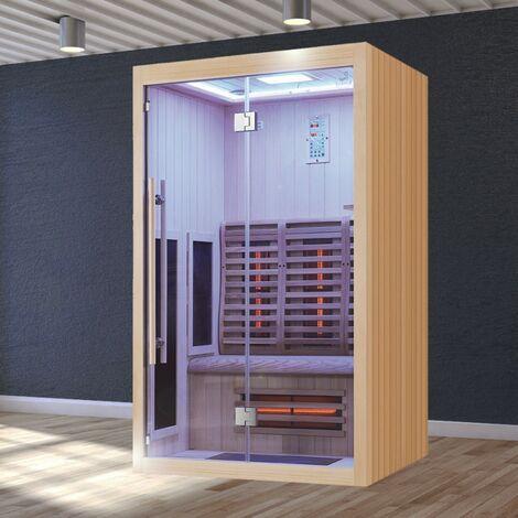 Sauna Infrarouge Boreal® Signature - 130 à Spectre Complet - 130x110x200