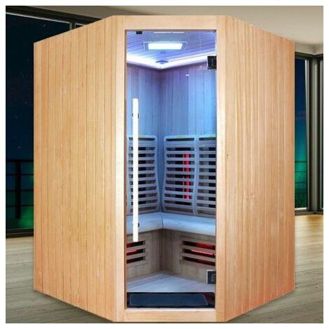 Sauna Infrarouge Boreal® Signature - 150C d'Angle à Spectre Complet - 150x150x200