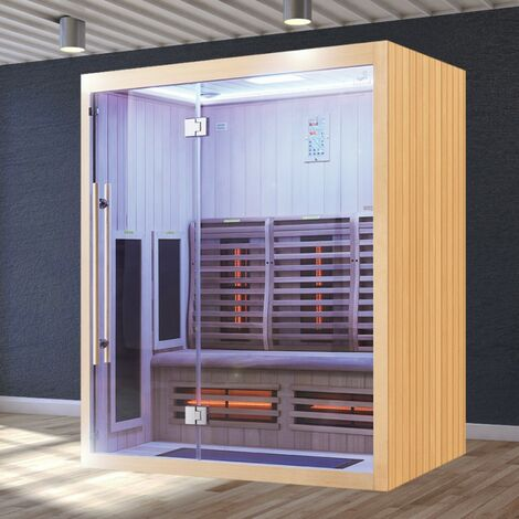 Sauna Infrarouge Boreal® Signature - 160 à Spectre Complet - 160x120x200