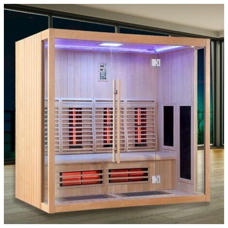 Sauna Infrarouge Boreal® Signature - 200 à Spectre Complet - 200x135x200