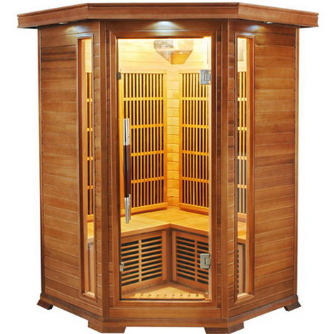 Sauna infrarouge cabine 2-3 places LUXE puissance 1920W