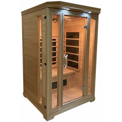 Sauna infrarouge HELSINKI 2 places - Marron