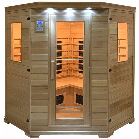 Sauna infrarouge HELSINKI 4-5 places - Marron