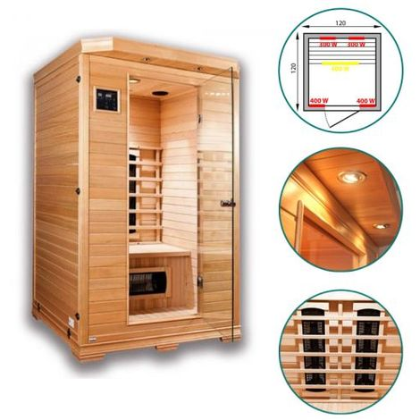 sauna infrarouge stark 2 places 3sau0026. Black Bedroom Furniture Sets. Home Design Ideas