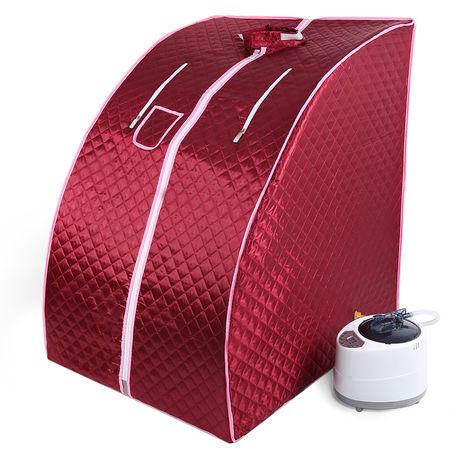 Sauna Portable Personal Spa Detoxify Perdre du poids 98 x 70 x 80 cm 1.8L(Rouge)