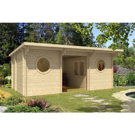 Sauna- und Wellnesshaus Twin-44 B, ohne Ofen & Zubehör