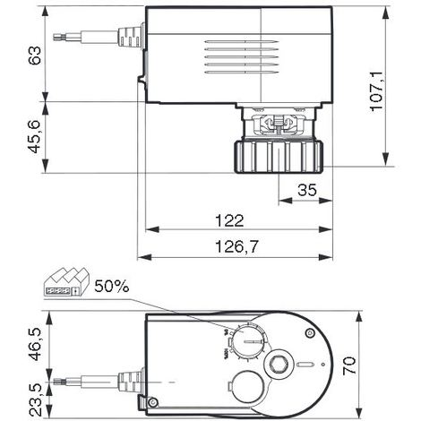 Sauter AVM104F020 - Moteur vanne 3 voies - 230V
