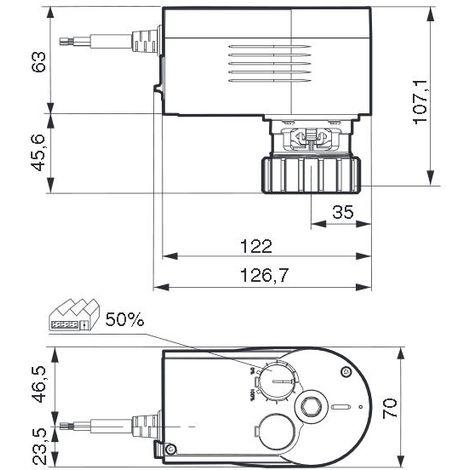 Sauter AVM104F020 - Motor valve 3 way - 230V
