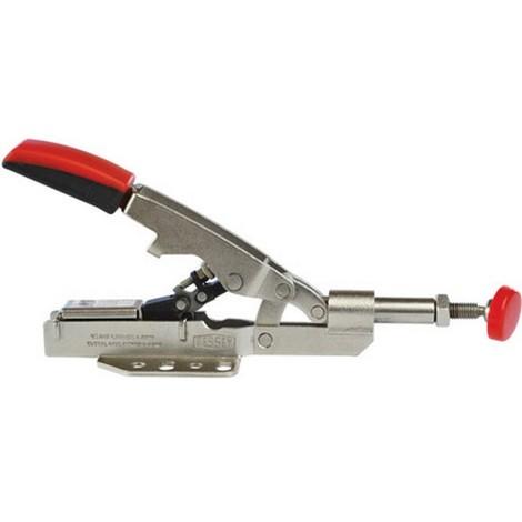 Sauterelle à tige coulissante, Capacité de serrage : 0-10 mm, Force serrage 1100 N, Hauteur de la poignée fermée 32 mm