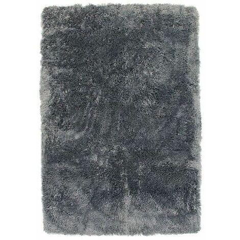 SAUVAGE - <p>Tapis à poils longs extra-doux bleu cendré 60x90</p> - Bleu