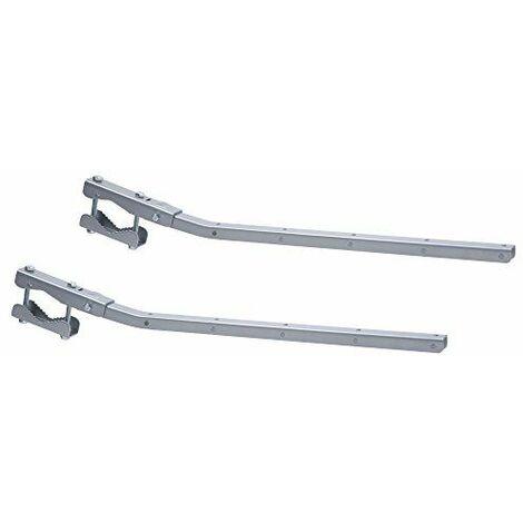 Sauvic 89425-Séchoir de balustrade adaptable et rabattable, gris