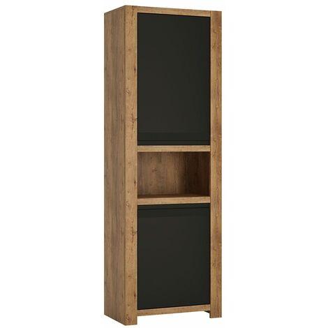 Savana 2 door tall cupboard open shelf