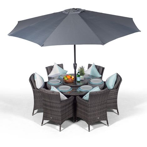 LARGE 6-8 SEATS TABLE DUSK COVER WATERPROOF FOR RATTAN GARDEN FURNITURE CUBE SET