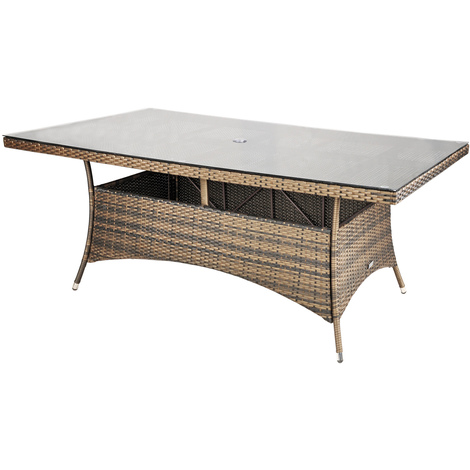 Savannah Rattan Garden Furniture [8 Seat Dining Set with Rectangular Table]