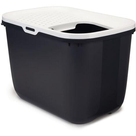 Savic Caja de arena con entrada superior Hop In antracita 400505