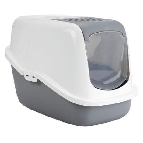 Savic Nestor Cat Toilet Home (One Size) (White/Grey)