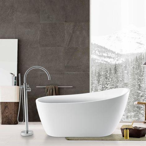 Savilla 1520mm X 720mm Modern Freestanding Slipper Bath & Waste