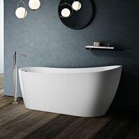 Savilla 1665mm X 720mm Modern Freestanding Slipper Bath & Waste