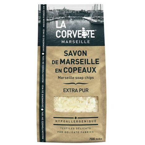 SAVON MARSEILLE COPEAUX 750G LA CORVET (Vendu par 1)