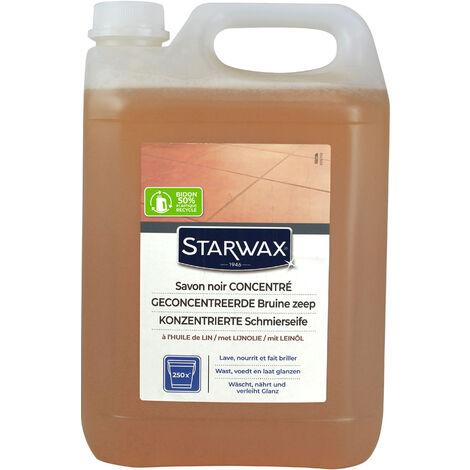 Savon noir à l'huile de lin pour sols intérieurs 5L STARWAX - Blanc