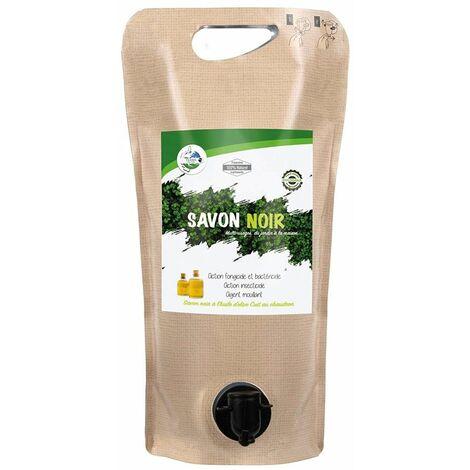 Savon noir liquide 2L à diluer pucerons, cochenilles, araignées rouges - Alu