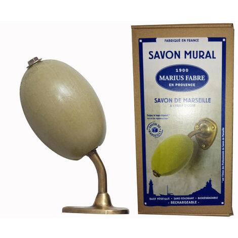 Savon Rotatif à l'Huile d'Olive 290gr avec Support Laiton