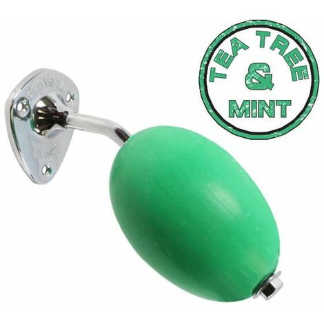 "Savon rotatif vert ""Tea Tree and Mint"" Provendi avec porte-savon à écrou chromé"