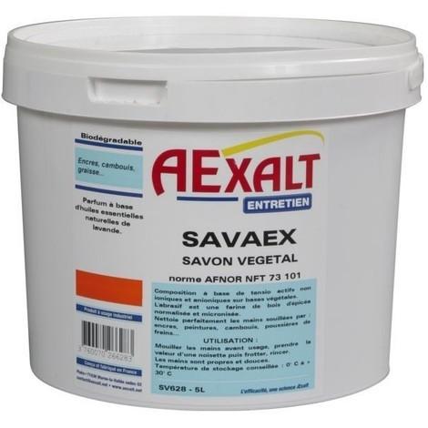 Savon vegetal en poudre micronisee savaex pour lavage mains- seau 5 l