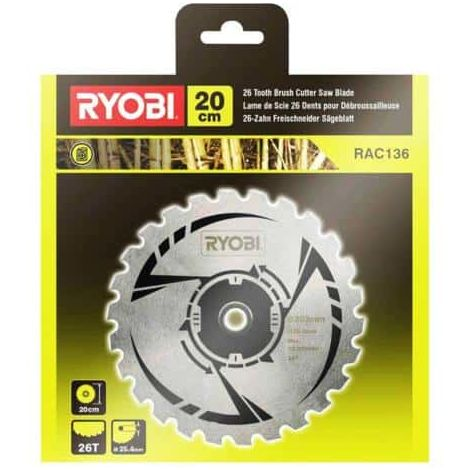 Saw blade 26 teeth RYOBI 20cm for brushcutters RAC136