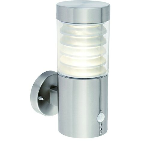 Saxby Equinox LED PIR - Outdoor Wall 1 Light IP44 10W Marine Grade Brushed Stainless Steel