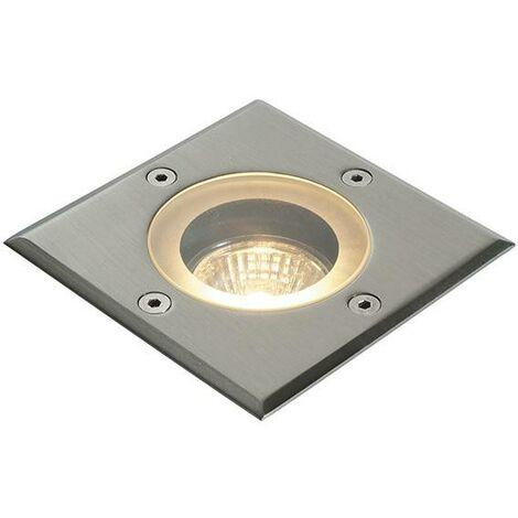 Saxby Pillar - 1 Light Outdoor Recessed Light Marine Grade Brushed Stainless Steel, Glass IP65, GU10