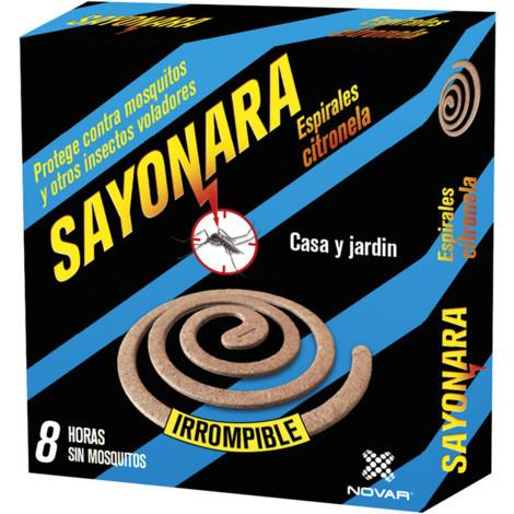 Sayonara Espiral Antimosquitos Citronella 10Uds - NEOFERR