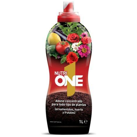 SBM - Nutrione Abono líquido concentrado plantas y flores. Fertilizante premium 1L