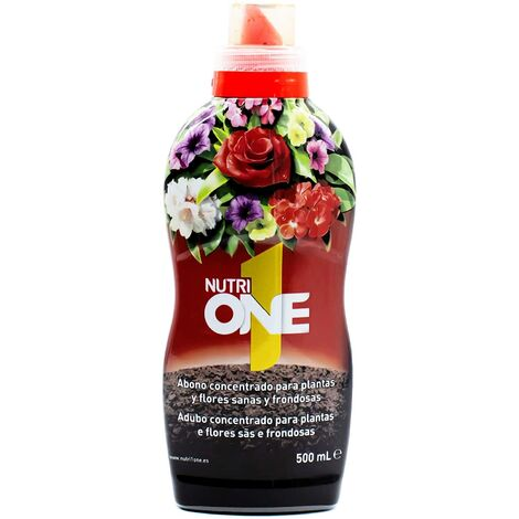 SBM - Nutrione Abono líquido concentrado plantas y flores. Fertilizante premium 500ml