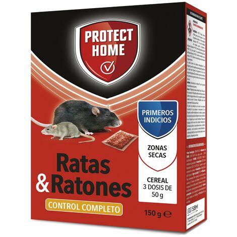 SBM - Protect Home Raticida, mata ratas y ratones Brodifacoum cereal 3x50gr