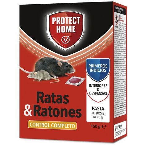 SBM - Protect Home Raticida, mata ratas y ratones Brodifacoum pasta (cebo fresco) 10x15gr