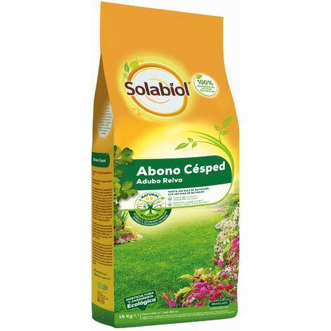 SBM - Solabiol Abono orgánico cesped saco 15Kg