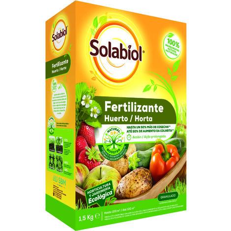 SBM - Solabiol Fertilizante granulado para huerto 1,5Kg