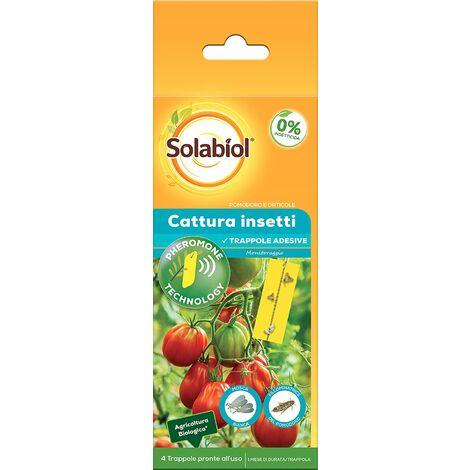 SBM - Solabiol Insecticida Tuta Absoluta contra mosca blanca y polilla del tomate con feromonas (4 trampas)