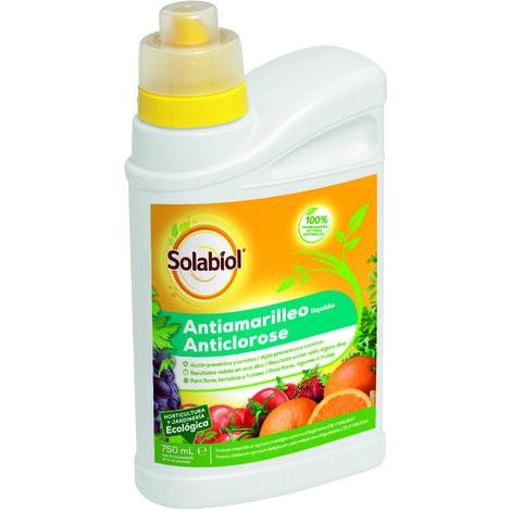 SBM - Solabiol líquido antiamarilleo orgánico para flores, hortalizas y frutales 750ml