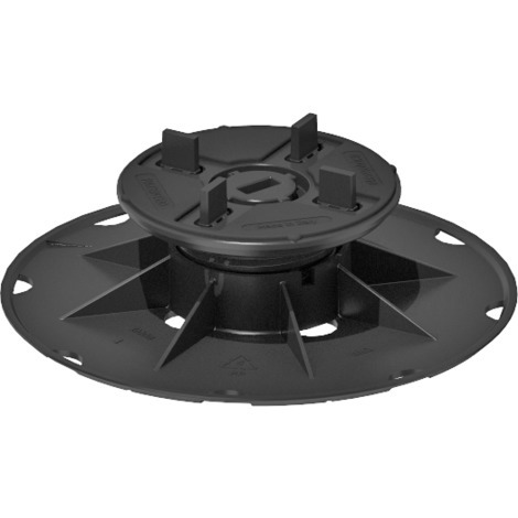 SBP 2 Adjustable pedestal support for raised floor (37-52 mm) with bi-component fixed head with 4 mm tabs for tiles